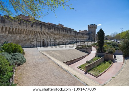 Old walls - Fortifications of Avignon - Camargue - Provence - France