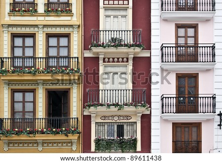 Old walls/ Valencia. Spain - stock photo