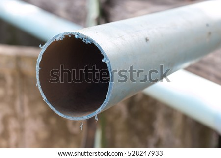 Old water pipes pvc