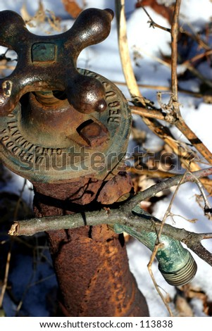 Old water spicket - stock photo