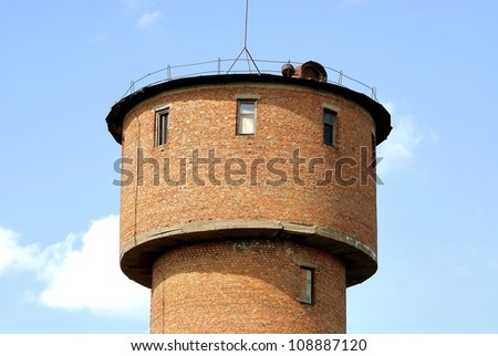 Old water tower - stock photo