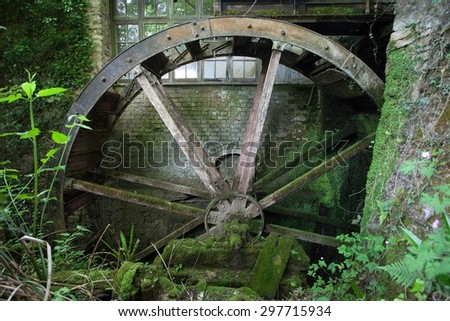 Old Water wheel, Devon, England