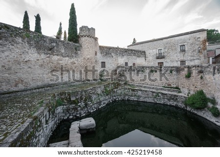 Old way of storing water, la Alberca in Trujillo, Spain - stock photo