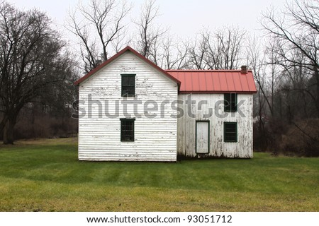 Old Weathered Abandoned House - stock photo