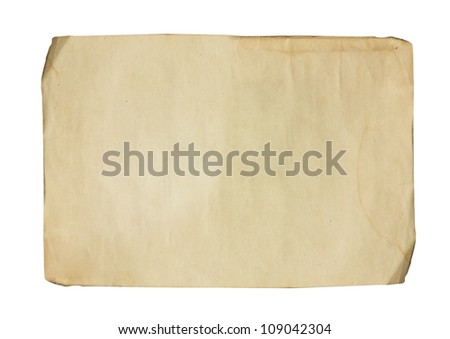 Old weathered paper sheet - stock photo