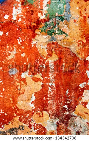 Old weathered wall - stock photo
