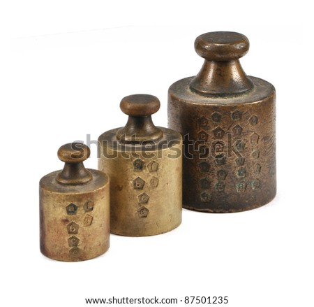 old weights - stock photo