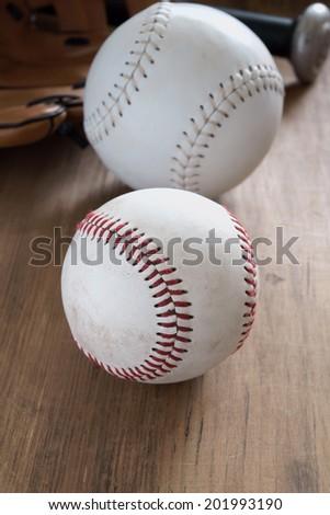 Old well used baseballs  - stock photo