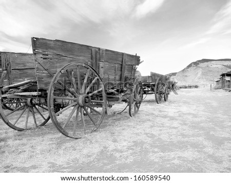 Old west, Old trail town, Cody, Wyoming, United States - stock photo