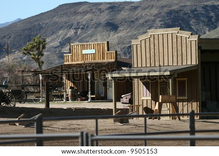 Old west structures - stock photo