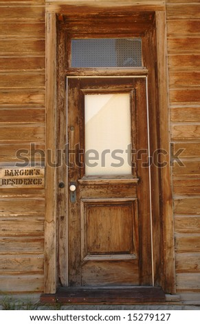 Old Western Door & Old Western Door Stock Photo \u0026 Image (Royalty-Free) 15279127 ...