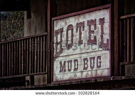 Old Western Hotel - stock photo
