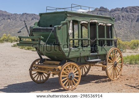 Old Western Stage Coach - stock photo