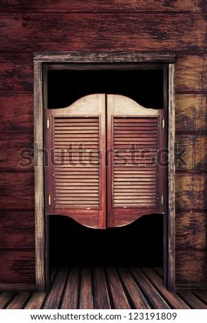 Old western swinging saloon doors stock photo 123191809 shutterstock for Western building products exterior doors