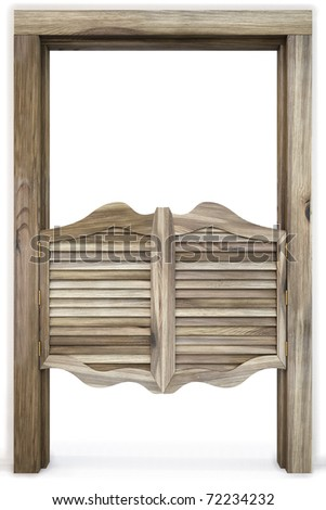 Old Western Swinging Saloon Doors. isolated on white. & Saloon Doors Stock Images Royalty-Free Images \u0026 Vectors ... Pezcame.Com