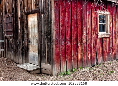 Old Western Town - stock photo