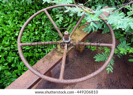 old wheel for open water gate