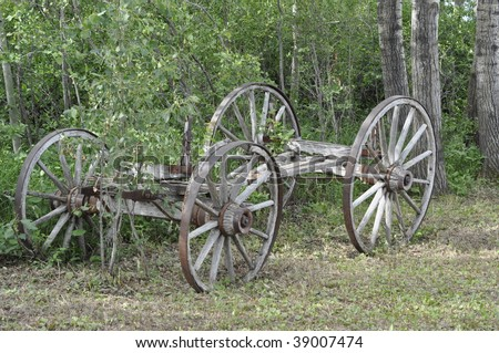 old wheel from an ox cart