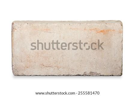 Old White Brick Isolated On Background
