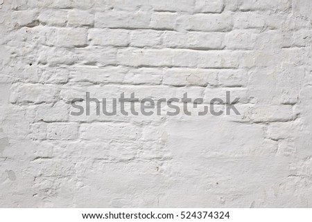 Old White Brick Wall Plastered Or Fence Structure Home House Interior