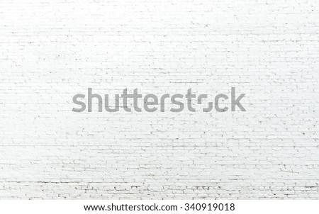 old white brick wall texture for background. - stock photo