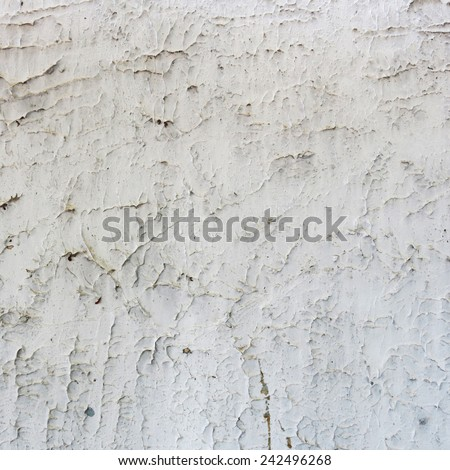 old white cement concrete wall - stock photo