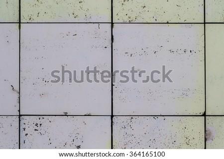 old white ceramic tiles background - stock photo