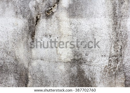 Old white concrete wall