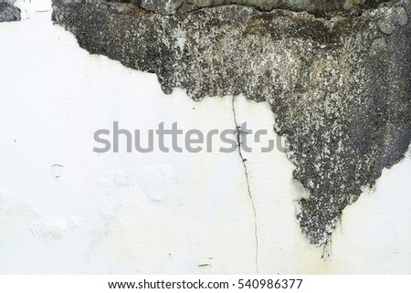 Old White Grunge Concrete Wall Background.