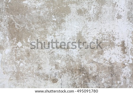 Old white grunge wall texture painted with white aged structure color.