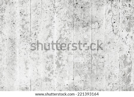 Old white grungy concrete wall, seamless background texture - stock photo