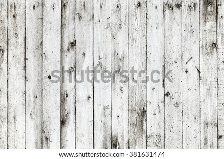 Old white grungy wooden wall, detailed background photo texture