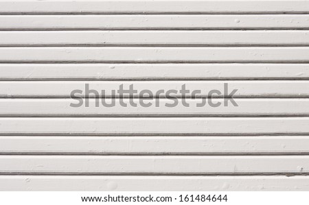 Old white painted wooden plank background. Close up - stock photo