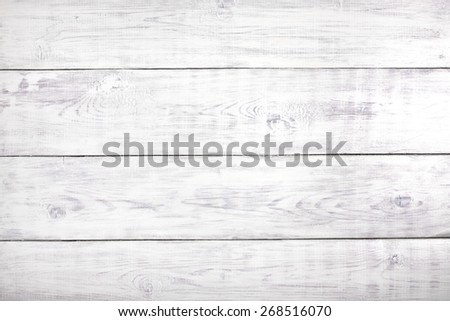 Old white rustic wood background, wooden surface with copy space - stock photo