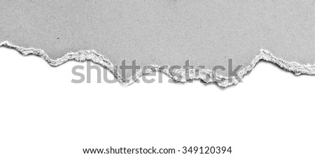 old white torn paper - stock photo