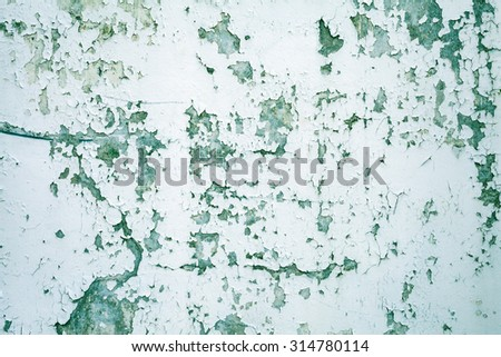 Colorful inflatable balloons background abstract festive backdrop - Old Paint Green Texture Concrete Walls Stock Photo