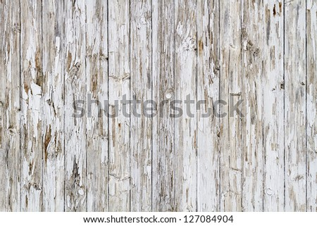 Old white weathered wooden background no. 8 - stock photo