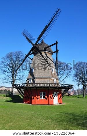 Old windmill, Copenhagen, Denmark - stock photo