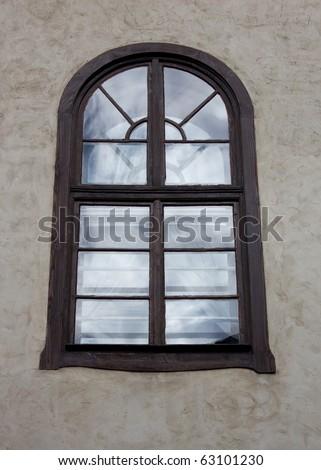 Old window - stock photo