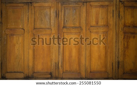 Old window at countryside - stock photo