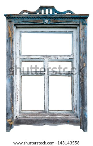 Old window frame - stock photo