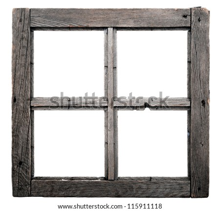 old window frame isolated on white background - Window Frame Picture Frame