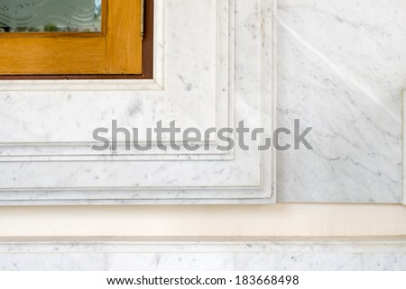 Old window marble  - stock photo