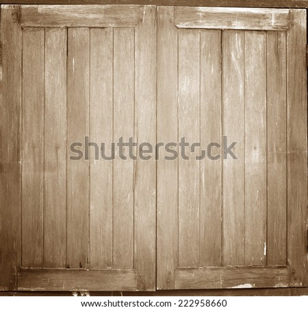Old window on the background texture. - stock photo