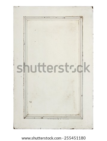 Old window (with clipping path) isolated on white background