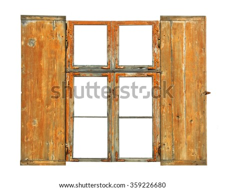 Old window with shutter.