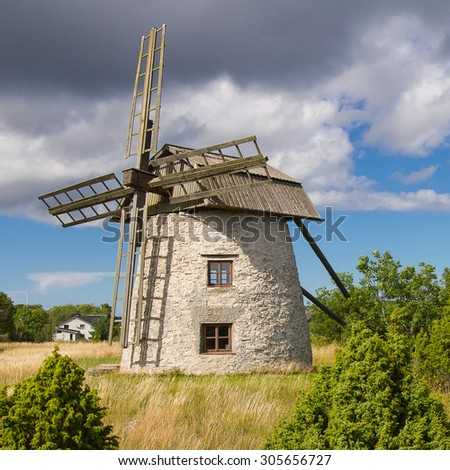 Old, windy mill