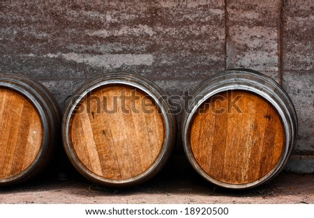 old wine barrels - stock photo