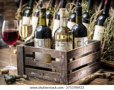 Wine crate stock images royalty free images vectors for Where can i find old wine crates