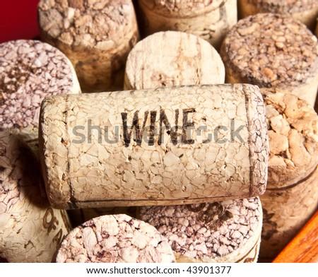 Old wine cork - stock photo